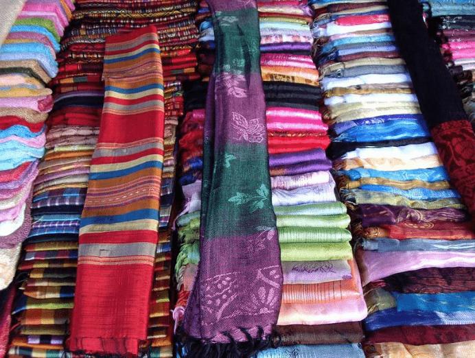 handicrafts and silks
