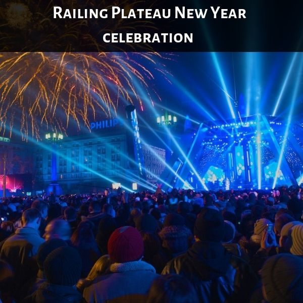 Railing Plateau New Year celebration