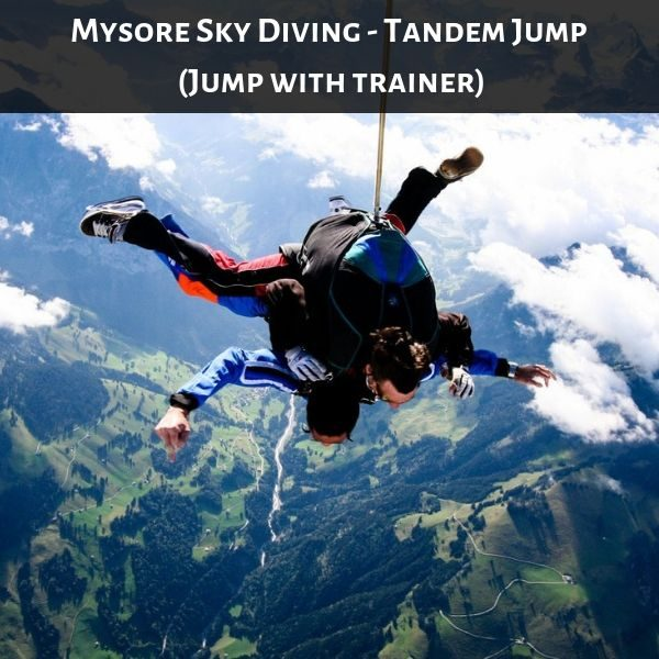 Mysore Sky Diving - Tandem Jump (Jump with trainer