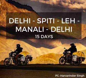 Delhi Spiti Leh Manali Delhi