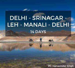 Delhi Srinagar Leh Manali Delhi