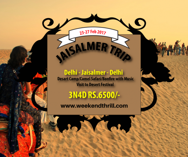 Jaisalmer Desert Festival trip