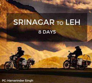 Srinagar to Leh Bike Trip
