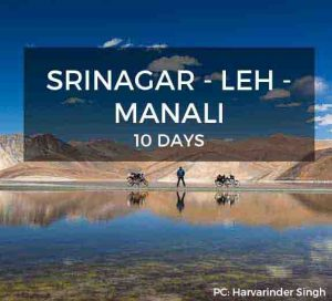 Srinagar to Leh to Manali Bike Trip
