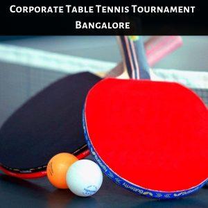 Corporate Table Tennis Tournament Bangalore