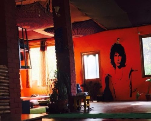 Enticing interior at Cafe in Kasol