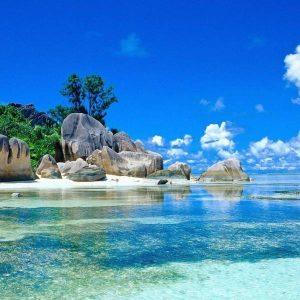 beach in Mahe island