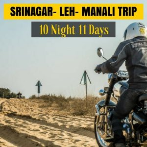 Srinagar Leh Ladakh Manali Bike Trip Package