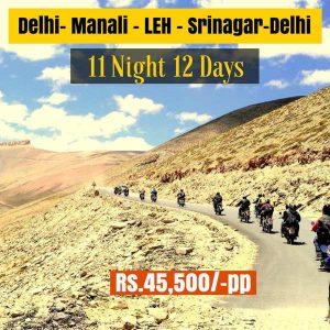 Delhi Manali Leh Ladakh Srinagar Delhi Complete Bike Trip