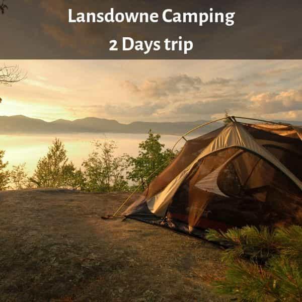Camping at Lansdowne