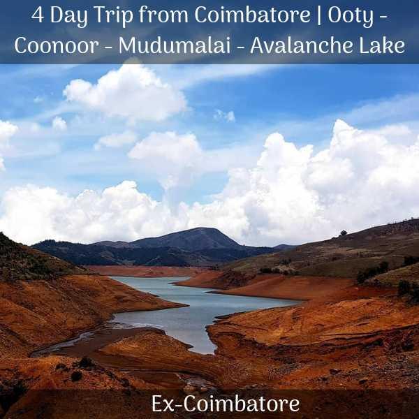 Ooty Coonoor Mudumalai Avalanche Lake trip