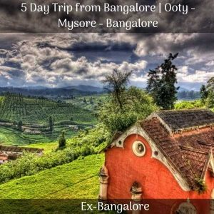 Ooty Mysore package