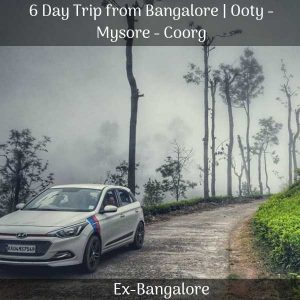 Ooty Mysore Coorg trip