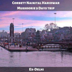 Corbett Nainital Haridwar Mussoorie