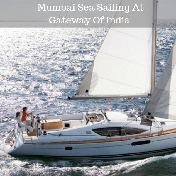 Mumbai Sea Sailing At Gateway Of India
