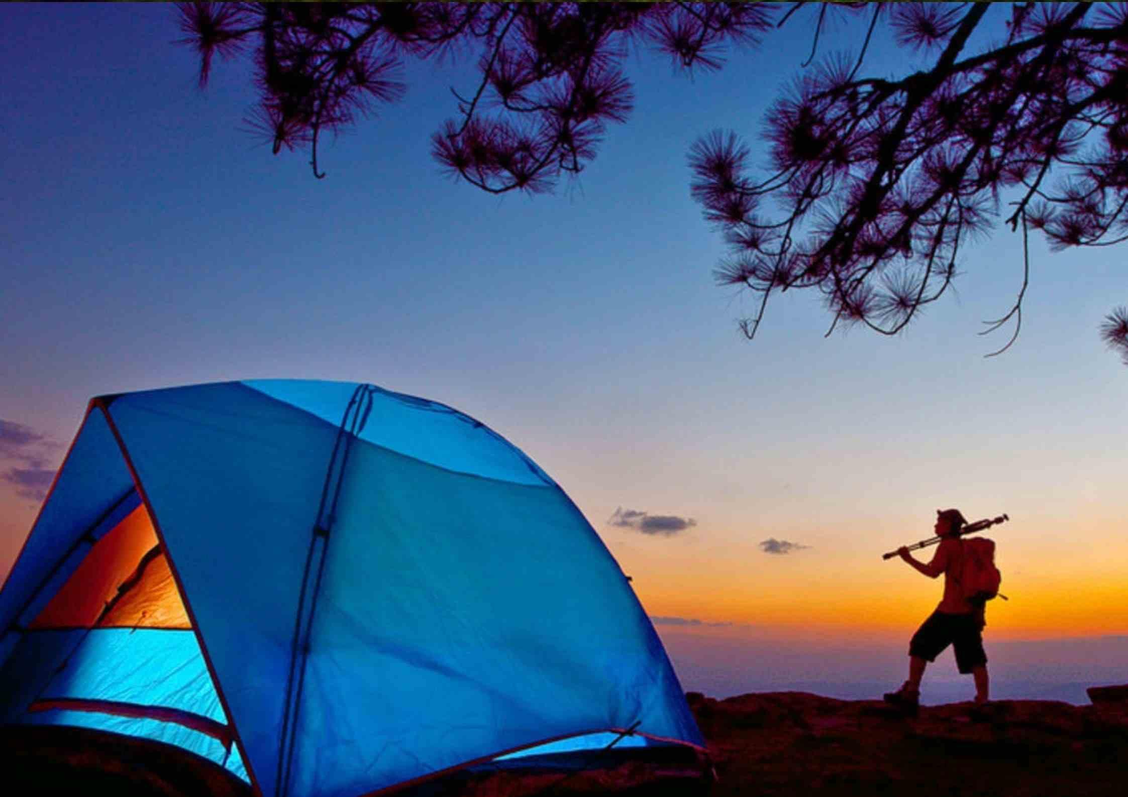 Camping at Nelamangala